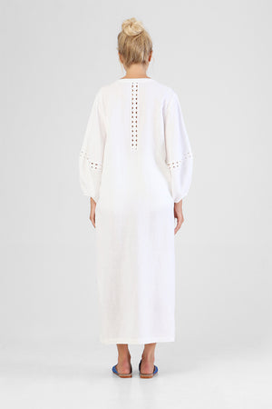 Hadiya - Coin detailed kaftan with balloon sleeves