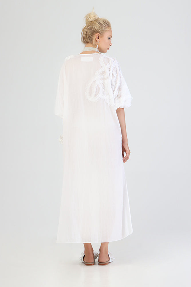 Halig - Kaftan with appliqué swirl