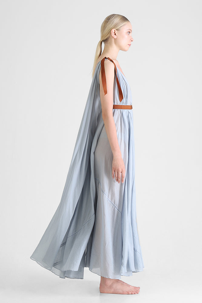 Load image into Gallery viewer, Hyma - Sleeveless long dress with train