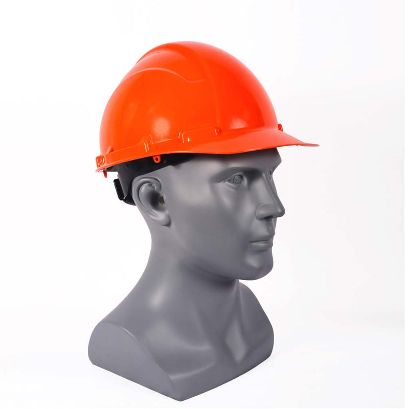 Casco de seguridad con suspensión matraca - Naranja- INFRA- Bryan Safety Mexico