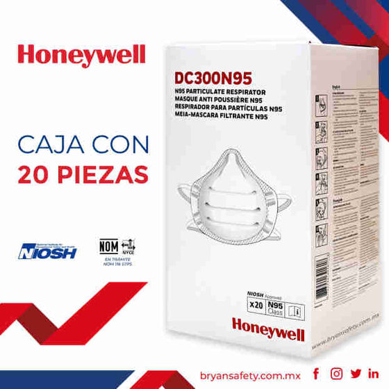 Mascarillas N95 DC300 con aprobación NIOSH - - Honeywell- Bryan Safety Mexico