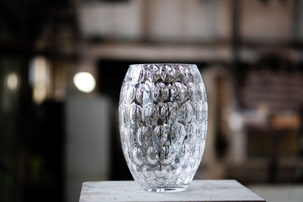 Close-up to Crystal Kugel Vase