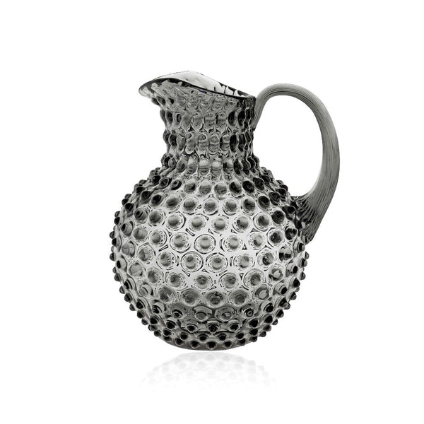 Grey Smoke Hobnail Jug by KLIMCHI