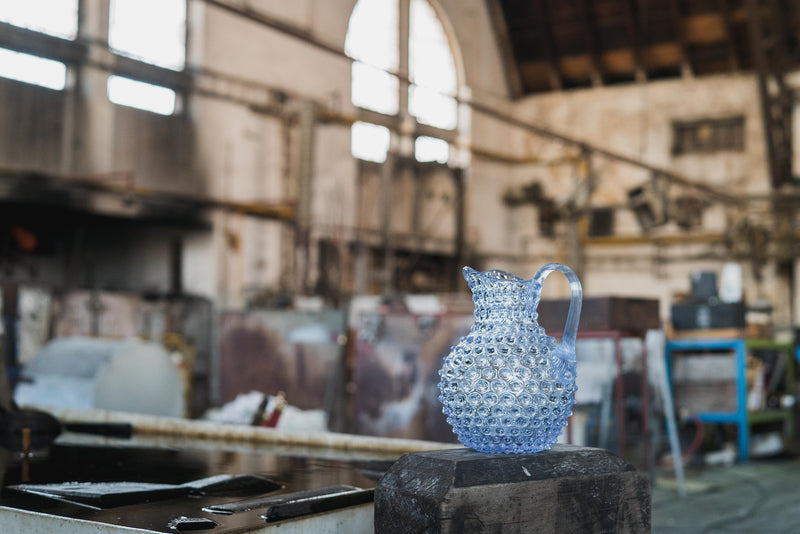 Alexandrite Hobnail Jug in Glass factory by KLIMCHI