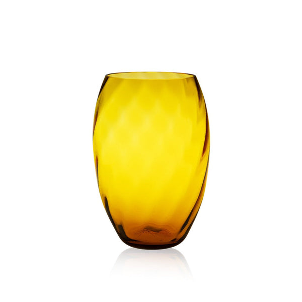 Glass Marika Vase in Amber Colour