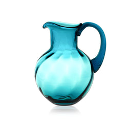Aquamarine Glass Marika Jug