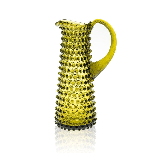 Tall Bonsai Green Jug from Hobnail collection