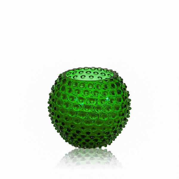 Dark Green Hobnail Round Vase by KLIMCHI