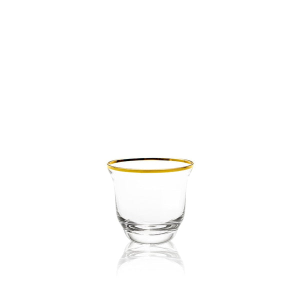 Drinking Glass in Golden Lux from Shadows collection by KLIMCHI