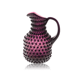 Glass Violet Hobnail Square Jug