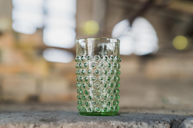 Close-up photo of Light Green Hobnail Tumbler