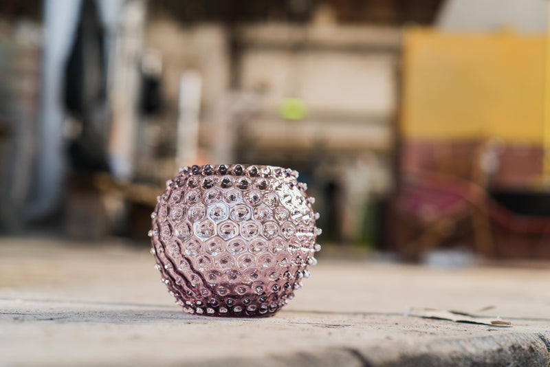 Detailed photo of Underlay Violet Hobnail Round Vase