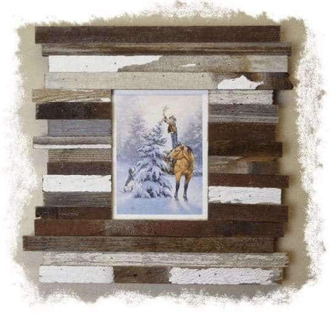 24 x 30 Rustic Reclaimed Beachcomber Barn Wood Frame - Picture - Shop - Wooden