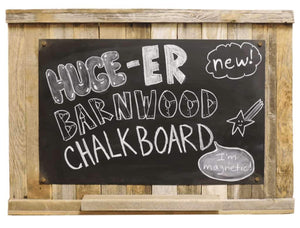 20 x 30 Magnetic Erasable Barnwood Chalkboard - Picture Frame - Shop - Rustic Wooden