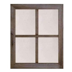 2″ Large 4-Pane Barn Window Mirror - Picture Frame - Shop - Rustic Wooden