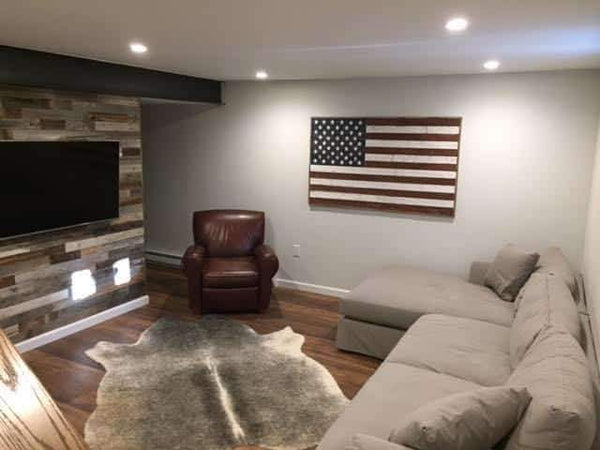 Wooden American Flag Wall Art Rustic Decor - Picture Frame - Shop