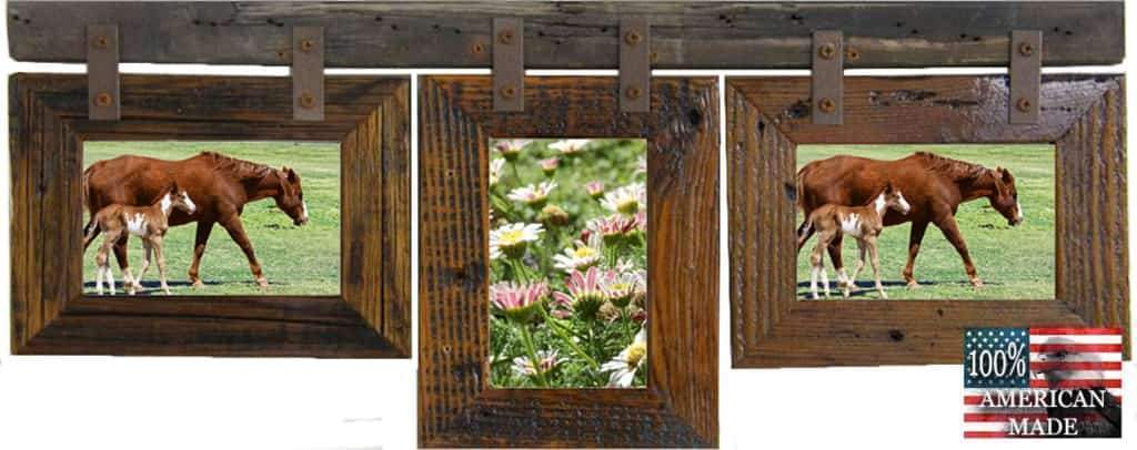 Rustic Carson City 3 Mixed 5x7 Collage Picture Frames - Frame - Shop - Wooden