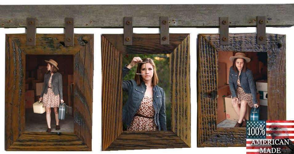 Rustic Carson City 3 Vertical 4x6 Collage Picture Frames - Frame - Shop - Wooden