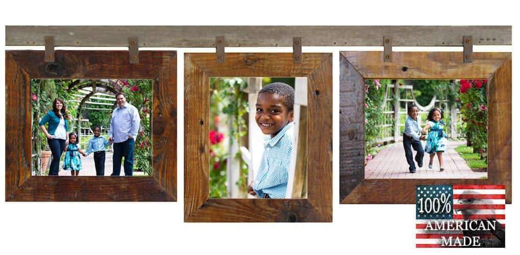 Rustic Carson City 3 Mixed 8x10 Collage Picture Frames - Frame - Shop - Wooden