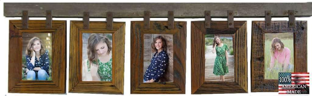 Rustic Carson City 5 Vertical 4x6 Collage Picture Frames - Frame - Shop - Wooden