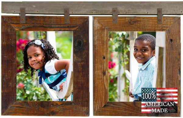 Rustic Carson City 2 Vertical 8x10 Collage Picture Frames - Frame - Shop - Wooden