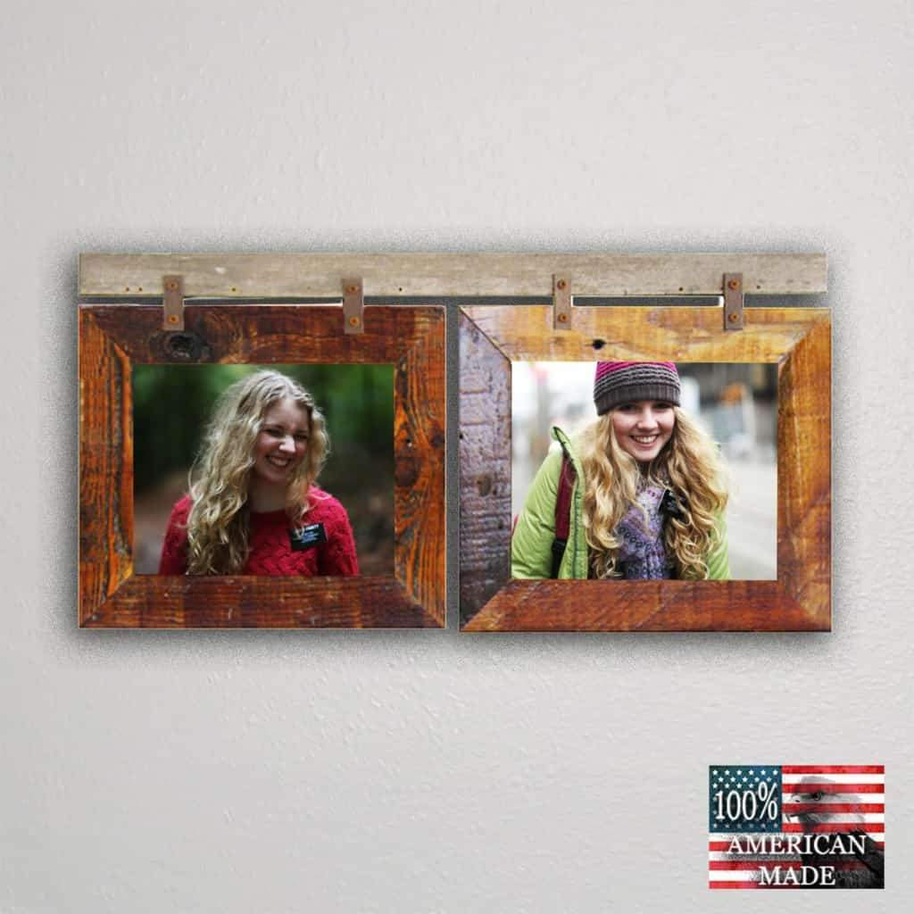 Rustic Carson City 2 Horizontal 8x10 Collage Picture Frames - Frame - Shop - Wooden