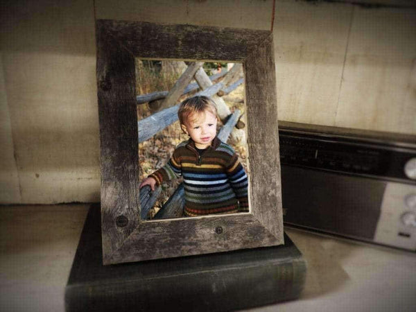 1.5 Wide Narrow Barnwood Frame 5 x 7 Size - Picture - Shop - Rustic Wooden