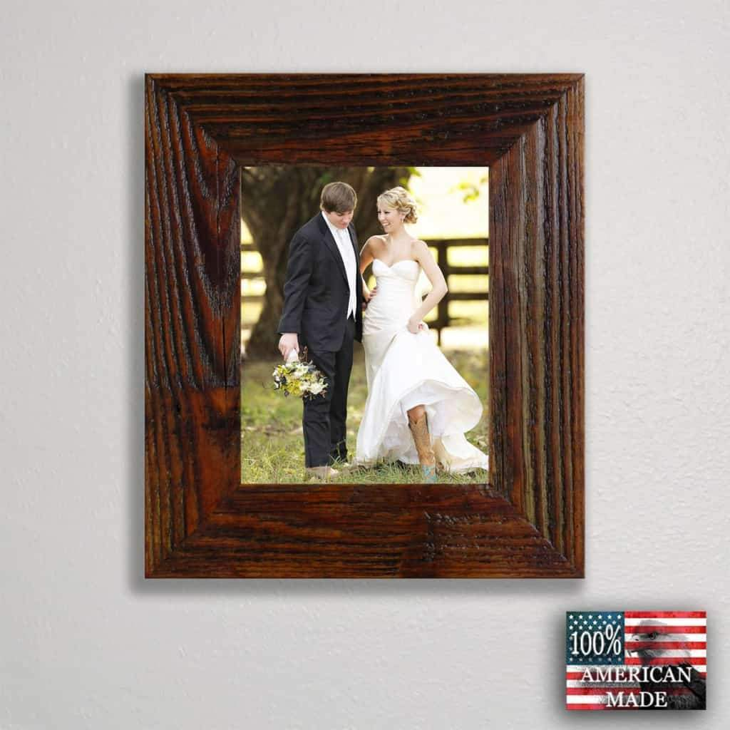 All Sizes 1.5 Inch Rustic Carson City Finished Barnwood Frame - Picture - Shop - Wooden