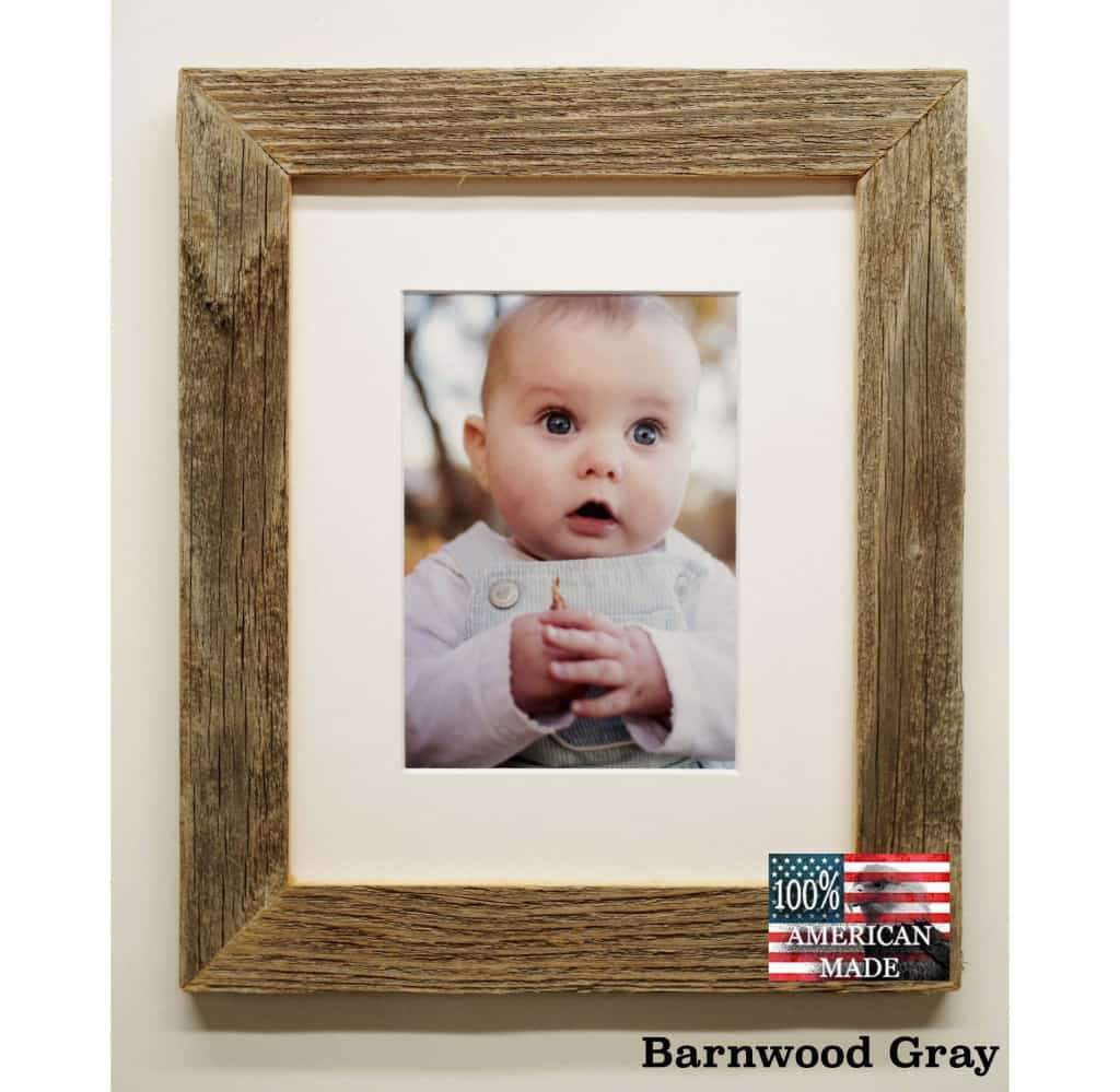 1.5 Wide Narrow Barnwood Frame 8 x 10 Size - Picture - Shop - Rustic Wooden