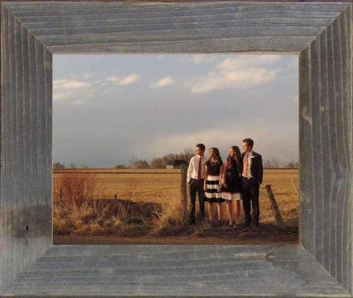 2 Wide Narrow Barnwood Frame 4 x Size - Picture - Shop - Rustic Wooden