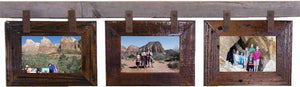 Rustic Carson City 3 Horizontal 4x6 Collage Picture Frames - Frame - Shop - Wooden