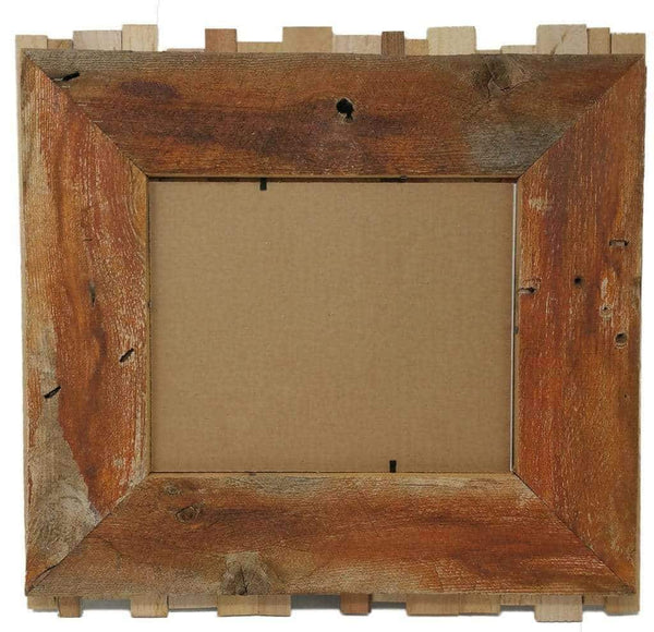 24 x 36 Rustic Reclaimed Beachcomber Barn Wood Frame - Picture - Shop - Wooden