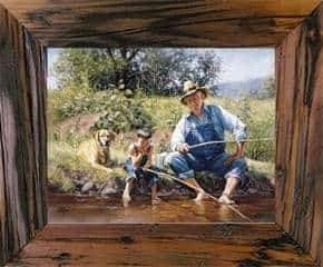3 Inch Rustic 16 x 24 Carson City Finished Barnwood Frame - Picture - Shop - Wooden