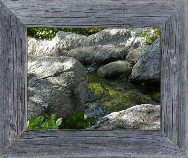 2 Wide Narrow Barnwood Frame 5 x Size - Picture - Shop - Rustic Wooden