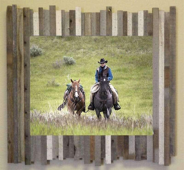 6 x 8 Rustic Reclaimed Beachcomber Barn Wood Frame - Picture - Shop - Wooden