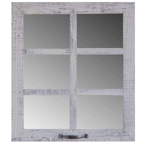 2″ Medium 6-Pane 20 x 22.5 Barn Window Mirror - Picture Frame - Shop - Rustic Wooden