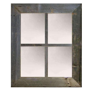 3″ Large 4-Pane Barn Window Mirror - Picture Frame - Shop - Rustic Wooden