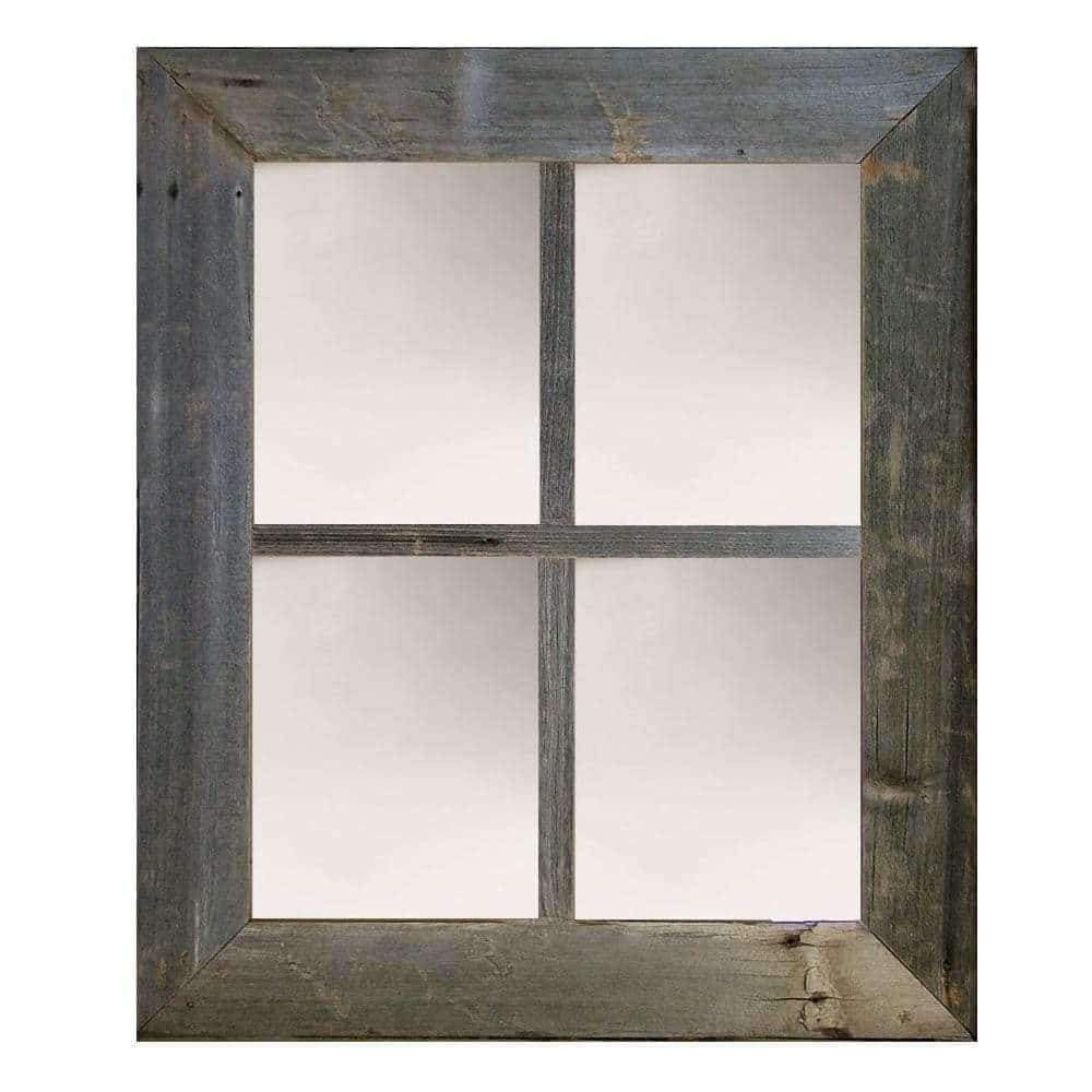 3″ Medium 4-Pane Barn Window Mirror - Picture Frame - Shop - Rustic Wooden