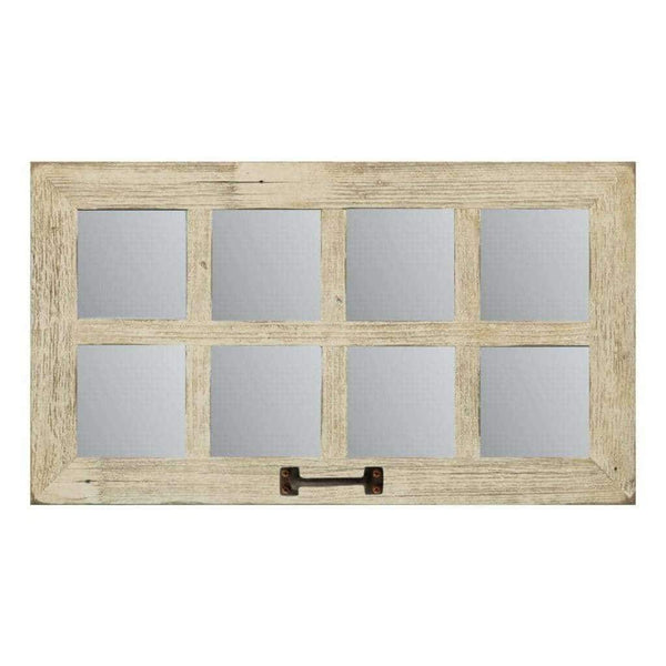 Medium 8-Pane 25 x 14 Barn Window Mirror - Picture Frame - Shop - Rustic Wooden