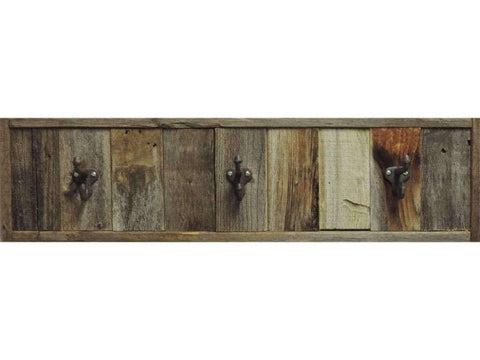 28.5 Reclaimed 3 Hook Barnwood Towel Rack - Picture Frame - Shop - Rustic Wooden