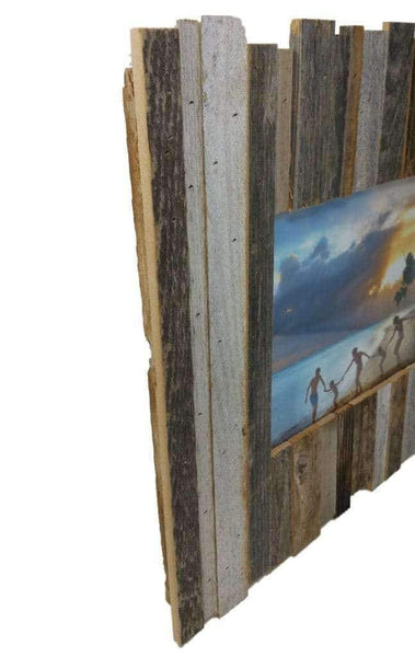 12 x 16 Rustic Reclaimed Beachcomber Barn Wood Frame - Picture - Shop - Wooden