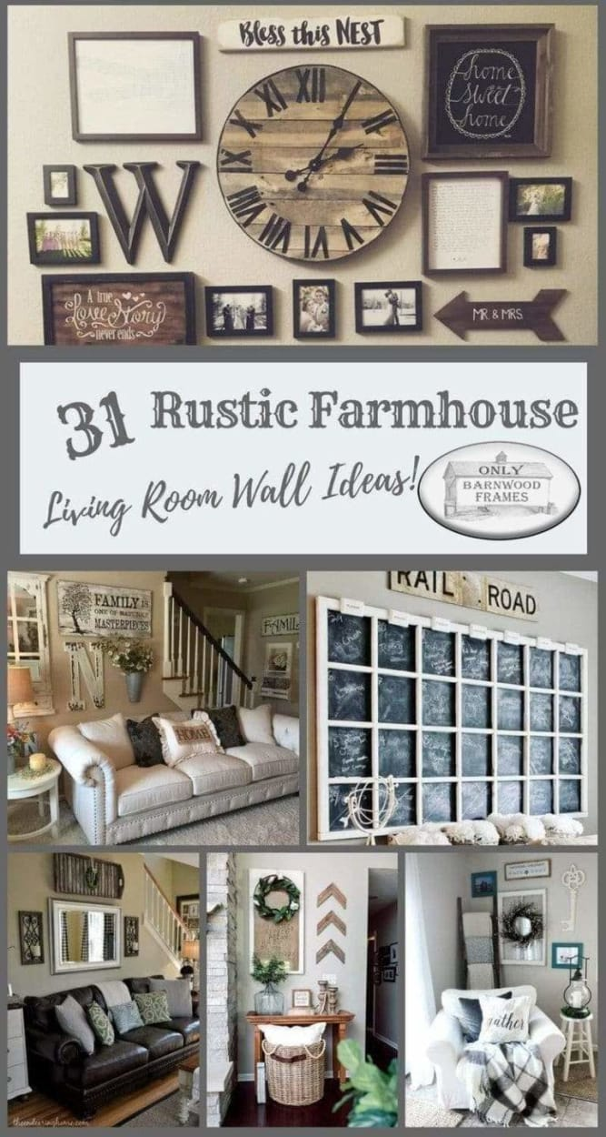 31 Rustic Farmhouse Living Rooms With Barnwood Frames Only Barnwood Frames