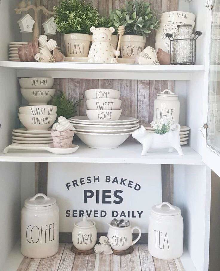 40 Farmhouse Wall and Shelving Decor Ideas for 2020