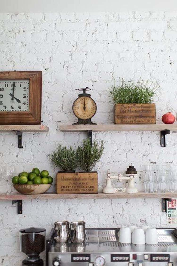 40 Farmhouse Wall And Shelving Decor Ideas For 2020 Only Barnwood Frames