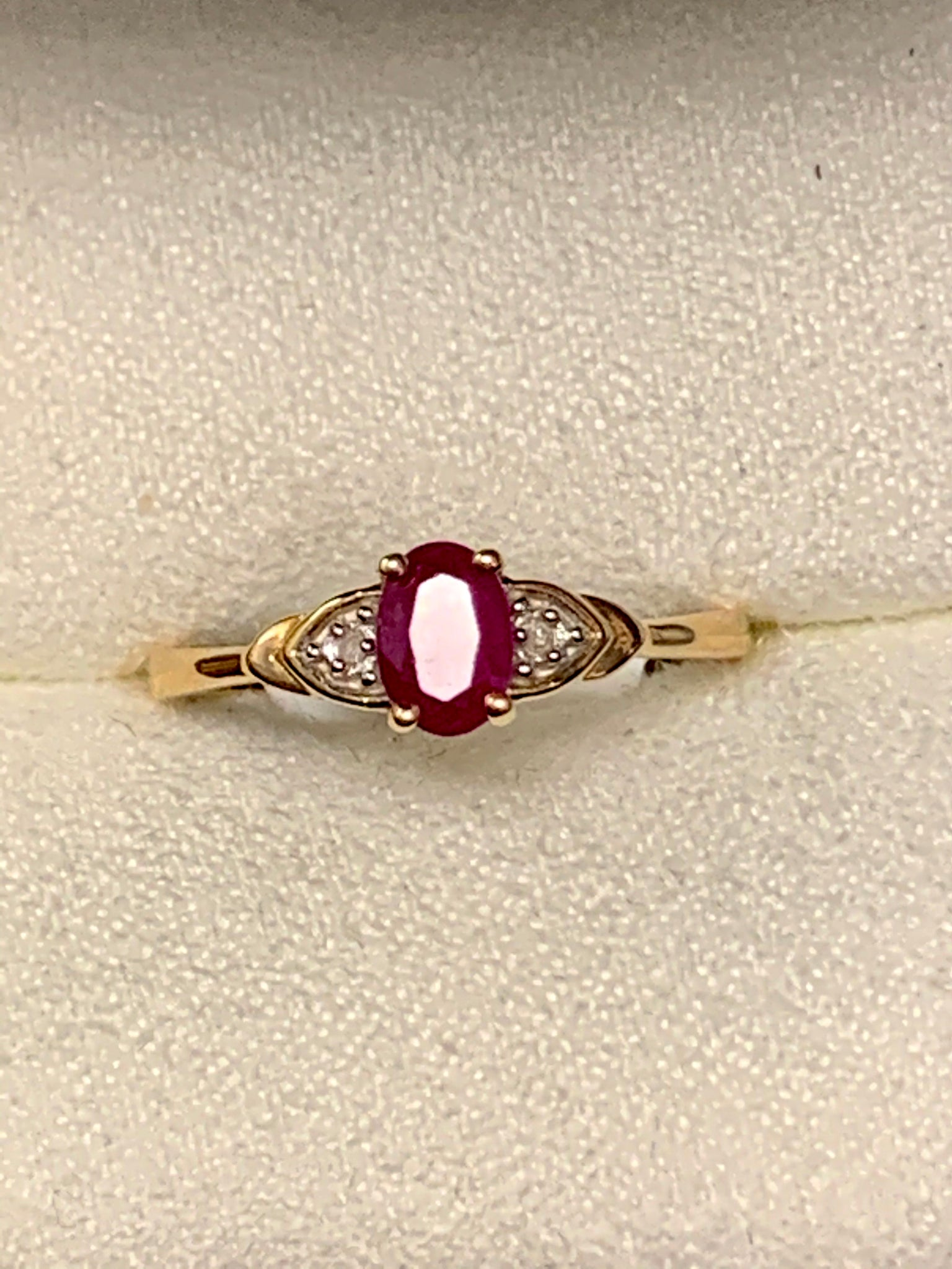 Petite Ruby/Diamond Fashion Ring