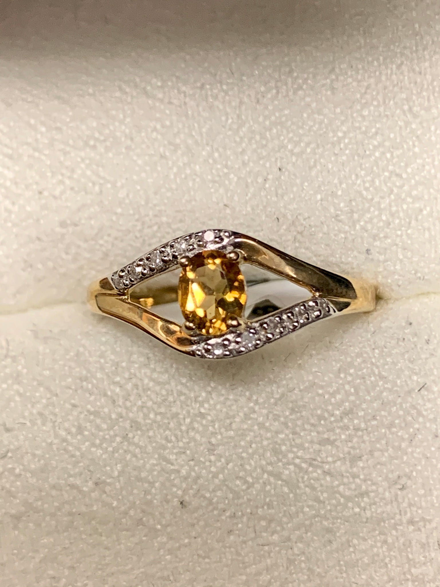 Citrine/Diamond Fashion Ring