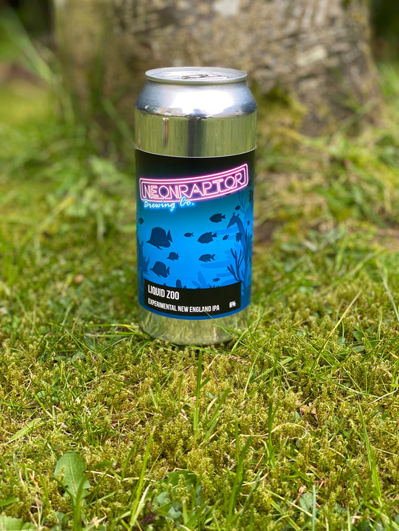Neon Raptor - Liquid Zoo - 6% NEIPA - 440ml can.