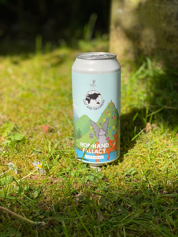 Lost & Grounded - Hop-Hand Fallacy - 4.4% Saison 440ml can.