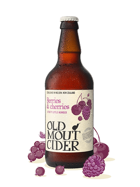 Old Mout - Berries & Cherries - Fruit Cider - 4% 500ml bottle