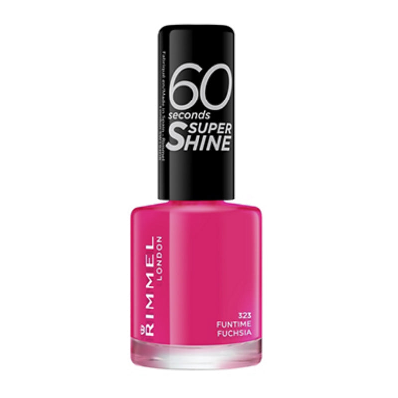 RIMMEL NAILS 60 SEC SUPER SHINE 323 FUNTIME FUCHSIA (6896) RIM1363